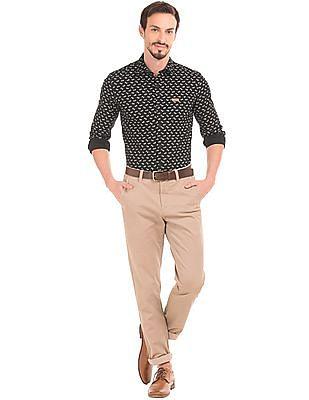 U.S. Polo Assn. Denim Co. Floral Print Slim Fit Shirt