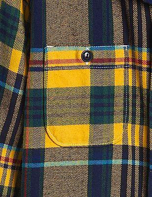 GAP Boys Flannel Long Sleeve Shirt