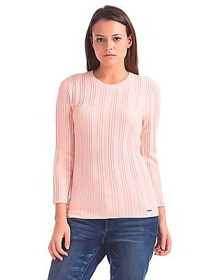 Nautica Ribbed Knit Solid Sweater