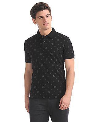 U.S. Polo Assn. Denim Co. Muscle Fit Printed Polo Shirt