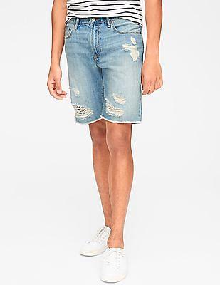 "GAP 10"" Distressed Slim Denim Shorts"