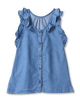 GAP Baby Flutter Sleeve Chambray Dress