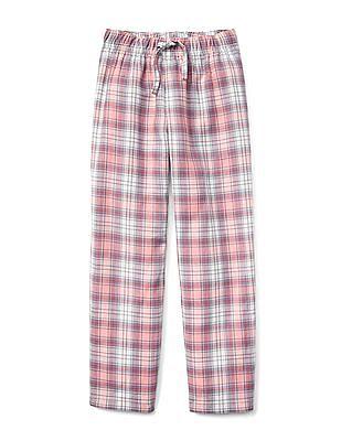 GAP Girls Pink Plaid Flannel PJ Pants