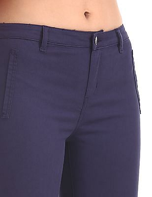 Cherokee Blue Mid Rise Regular Fit Trousers