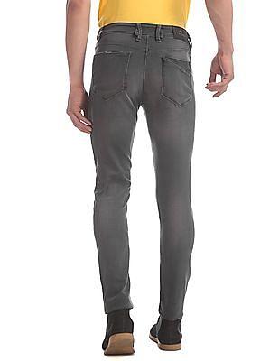 Flying Machine Grey Jackson Skinny Fit Stone Wash Jeans