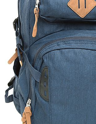 Ed Hardy Suede Trim Two Tone Laptop Backpack