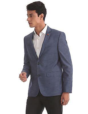 USPA Tailored Slim Fit Solid Blazer