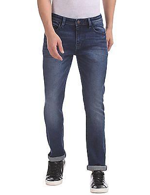 Arrow Sports Slim Fit Stone Wash Jeans
