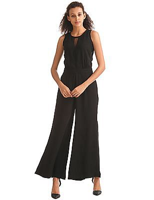 Elle Wide Leg Solid Jumpsuit