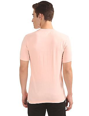 Aeropostale Embroidered Pocket Regular Fit T-Shirt
