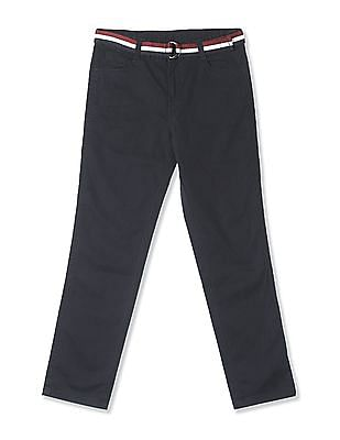 Cherokee Boys Solid Mid Rise Trousers