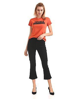 Flying Machine Women High Rise Boot Cut Jeans