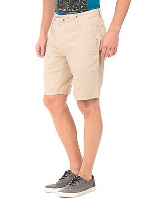 Cherokee Slim Fit Linen Cotton Shorts