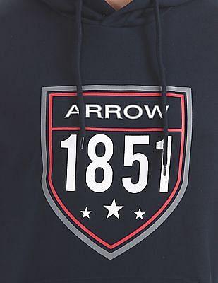 Arrow Sports Brand Print Hooded Sweatshirt