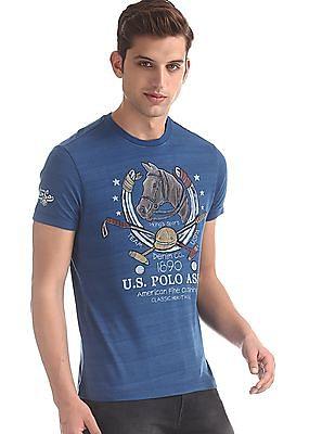 U.S. Polo Assn. Denim Co. Blue Front Print Crew Neck T-Shirt
