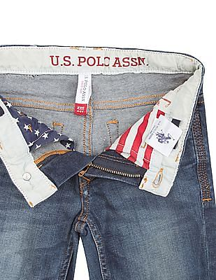 U.S. Polo Assn. Kids Boys Slim Fit Stone Wash Jeans