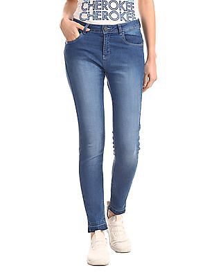 SUGR Blue Mid Waist Stone Wash Jeans
