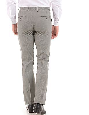 Arrow Houndstooth Slim Fit Trousers