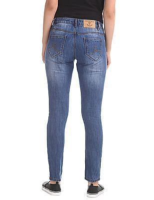 Cherokee Rip And Repair Slim Fit Jeans