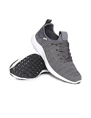 Flying Machine Contrast Sole Knit Sneakers