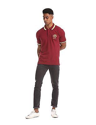 U.S. Polo Assn. Red Tipped Pique Polo Shirt