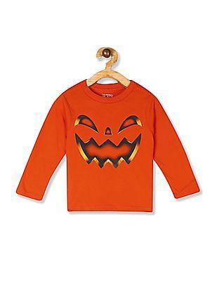 The Children's Place Toddler Boy Long Sleeve Pumpkin Graphic Tee