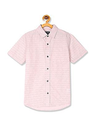 The Children's Place Pink Boys Short Sleeve Printed Shirt