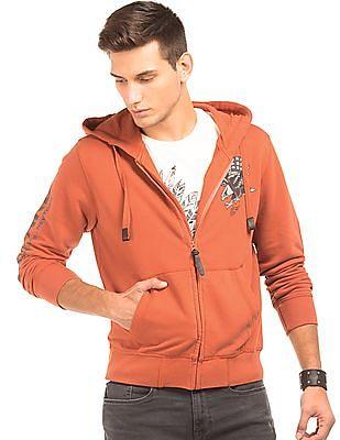 Ed Hardy Hooded Regular Fit Sweatshirt