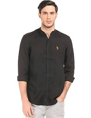 U.S. Polo Assn. Denim Co. Slim Fit Linen Shirt