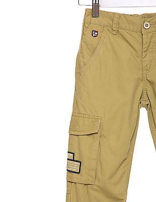 U.S. Polo Assn. Kids Boys Regular Fit Solid Cargos