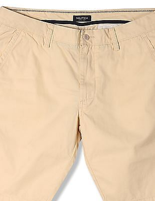 Nautica Solid Flat Front Shorts