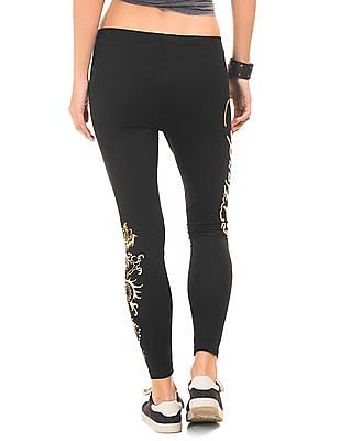 EdHardy Women Regular Fit Printed Leggings