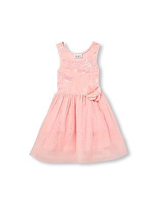 The Children's Place Girls Sleeveless Sequin Tutu Dress
