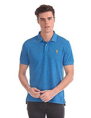 U.S. Polo Assn. Heathered Tencel Linen Polo Shirt