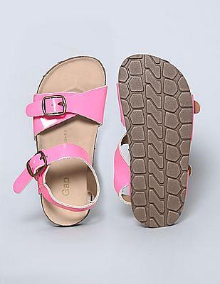 GAP Girls Pink Cork Buckle Sandals