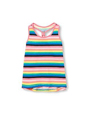 The Children's Place Toddler Girl Matchables Sleeveless Printed Racer-Back Tank Top