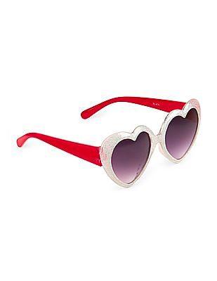 The Children's Place Girls Glitter Heart Sunglasses