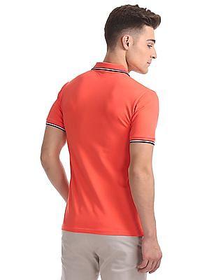 Gant Original 3-Color Tipping Pique Short Sleeve Rugger