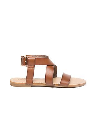 Aeropostale Burnished Cross Strap Sandals
