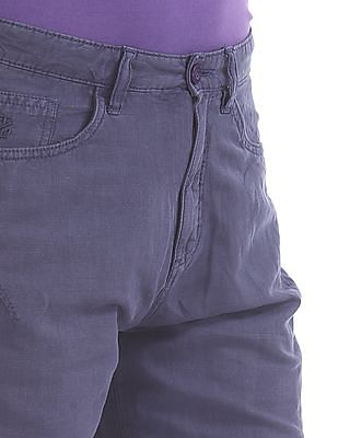 Izod Solid Cotton Linen Shorts