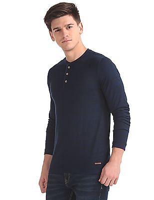 Cherokee Slim Fit Henley Neck T-Shirt