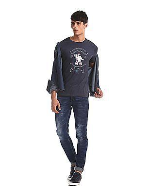 Colt Blue Astronaut Graphic Crew Neck T-Shirt