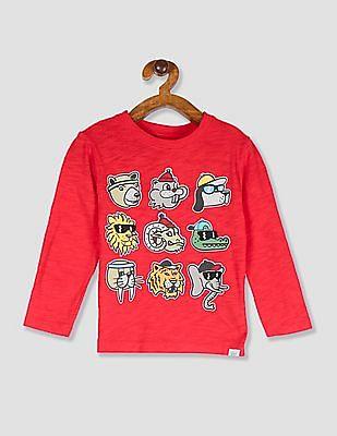 GAP Toddler Boy Red Long Sleeve Graphic T-Shirt