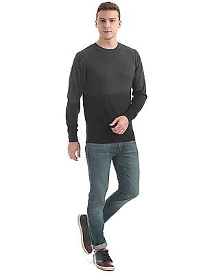 Aeropostale Ombre Dyed Round Neck Sweater