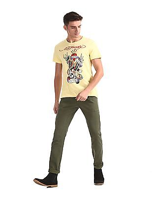 Ed Hardy Slim Fit Panelled Cargos