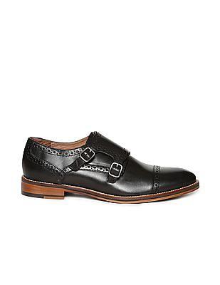 Johnston & Murphy Brogue Monk Strap Shoes