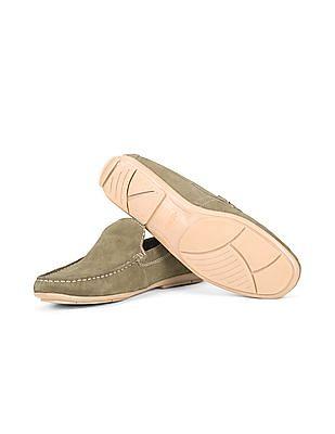 Arrow Sports Contrast Sole Suede Loafers