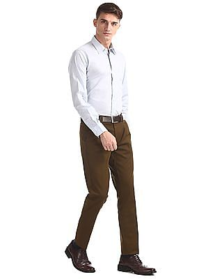 Arrow Newyork Slim Fit Flat Front Trousers