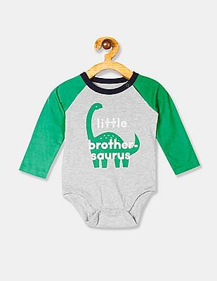 GAP Grey Baby Raglan Bodysuit