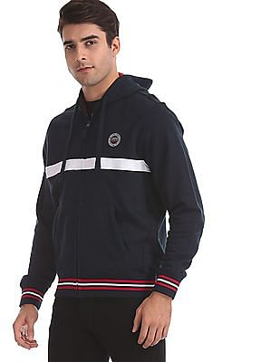 U.S. Polo Assn. Blue Numeric Applique Hooded Sweatshirt